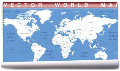 Fototapeta - VECTOR WORLD MAP