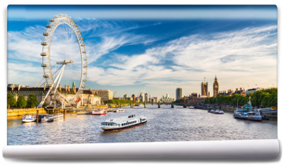 Fototapeta - Westminster Parliament and the Thames