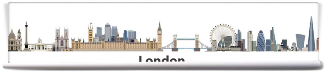 Fototapeta - London vector city skyline