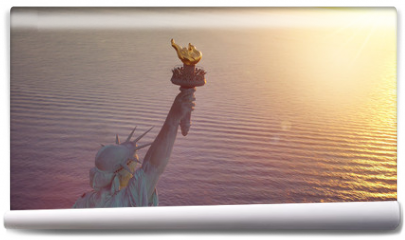 Fototapeta - Statue of Liberty with copy space