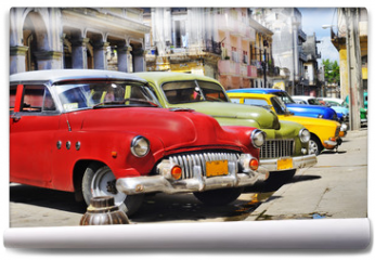 Fototapeta - Colorful Havana cars