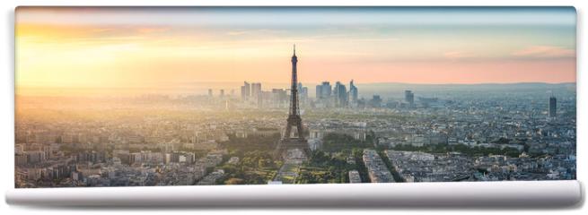 Fototapeta - Paris Skyline Panorama bei Sonnenuntergang mit Eiffelturm