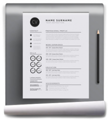 Fototapeta - Elegant CV / resume template minimalist black and white vector