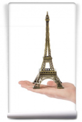 Fototapeta - Paris Eiffel tower souvenir in hand