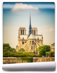 Fototapeta - Notre Dame de Paris at spring, France
