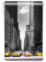 Fototapeta - Rangée de taxis à New-York