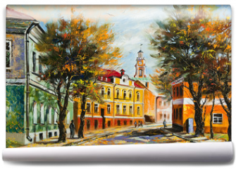Fototapeta - Ancient Vitebsk in the autumn