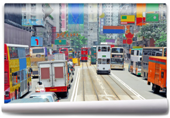 Fototapeta - China, Hong Kong Hennessy road