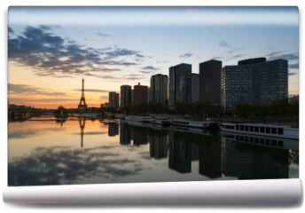 Fototapeta - Paris skyline with Eiffel tower and Seine river in Paris, France.