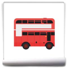 Fototapeta - london bus urban city transport