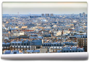 Fototapeta - Beautiful Paris afternoon cityscape seen from Montmartre