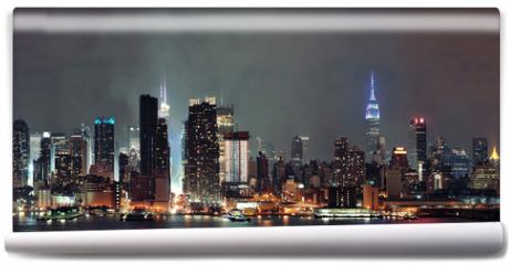Fototapeta - Manhattan midtown skyline at night