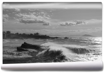Fototapeta - Black and white waves