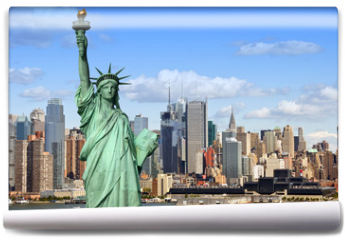 Fototapeta - new york cityscape, tourism concept photograph