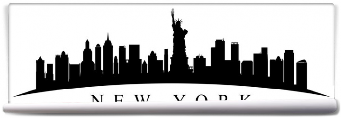 Fototapeta - New York city silhouette - stock vector