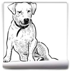 Fototapeta - Sketch of a sitting lap dog