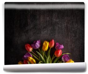 Fototapeta - Vibrant colorful tulips