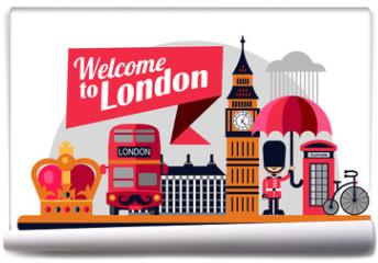 Fototapeta - London vector flat style illustration