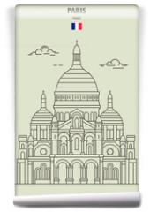 Fototapeta - Sacre Coeur Basilica in Paris, France. Landmark icon