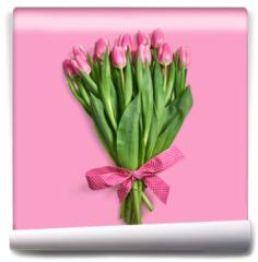 Fototapeta - Bukiet różowych tulipanów
