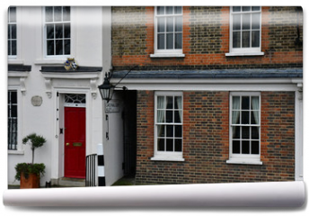 Fototapeta - London, England - march 11 2018 : houses near the Shakespeare Globe Theatre