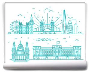 Fototapeta - Linear banner of London city