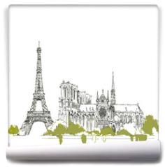 Fototapeta - The Eiffel Tower vector