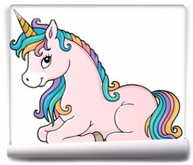 Fototapeta - Stylized unicorn theme image 1