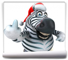 Fototapeta - Fun zebra - 3D Illustration