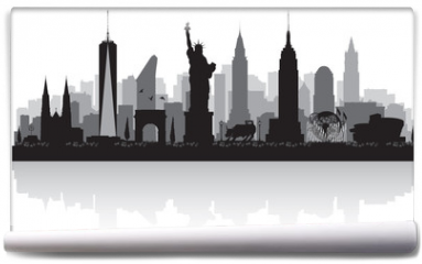 Fototapeta - New York city skyline silhouette