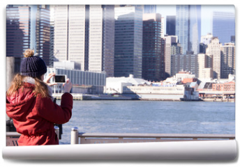 Fototapeta - Tourist in New York