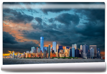 Fototapeta - View to Manhattan, New York City, USA