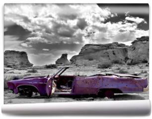 Fototapeta - abandoned car