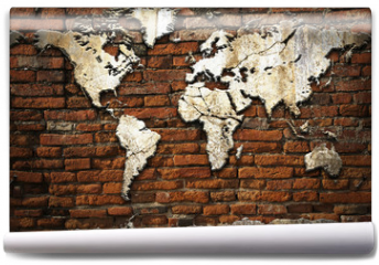 Fototapeta - Cement world map