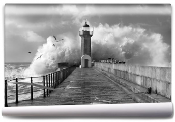 Fototapeta - Lighthouse, Foz do Douro, Portugal