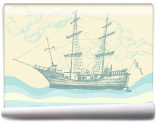 Fototapeta - Vintage sailing boat
