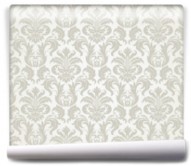 Fototapeta - Vector seamless floral damask pattern
