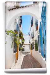 Fototapeta - Narrow passageway in old center of Cordoba