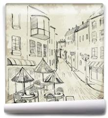 Fototapeta - Street cafe