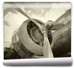 Fototapeta - Old engine and propeller