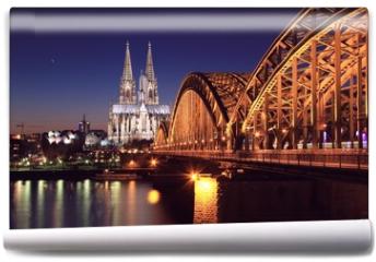 Fototapeta - Kölner Dom bei Nacht