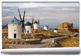 Fototapeta - windmills of Don Quixote -traditional Spain