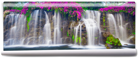 Fototapeta - Beautiful Lush Waterfall