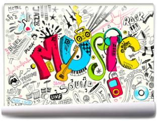 Fototapeta - Music Doodle