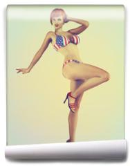 Fototapeta - Vintage Retro Styled Pinup Illustration