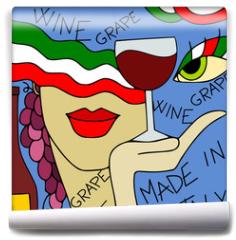 Fototapeta - astratto con vino