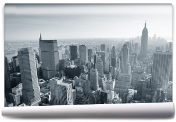 Fototapeta - New York City skyline black and white