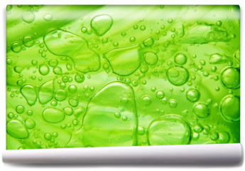 Fototapeta - Lime with bubbles on white