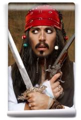 Fototapeta - Dissatisfied pirate