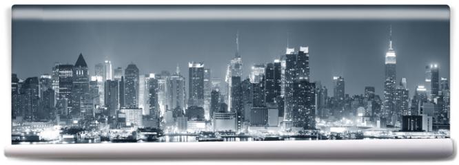 Fototapeta - New York City Manhattan black and white